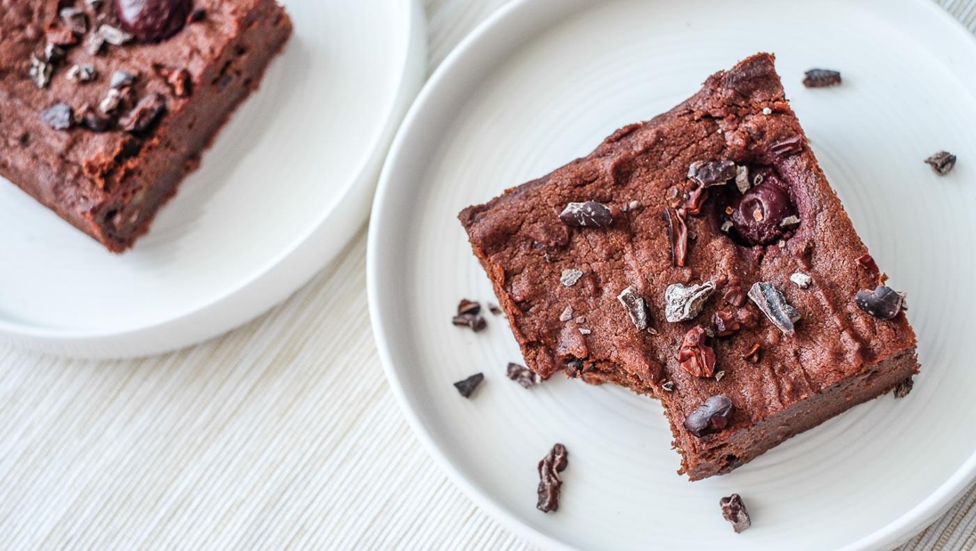 Batátové brownies svišněmi akakaovými boby