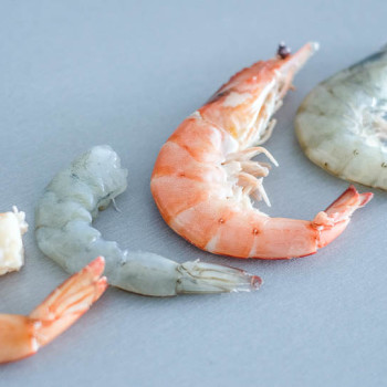 Syrové versus vařené krevety
