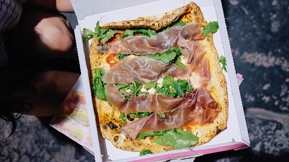 Pizza Rodolfo, prosciutto crudo