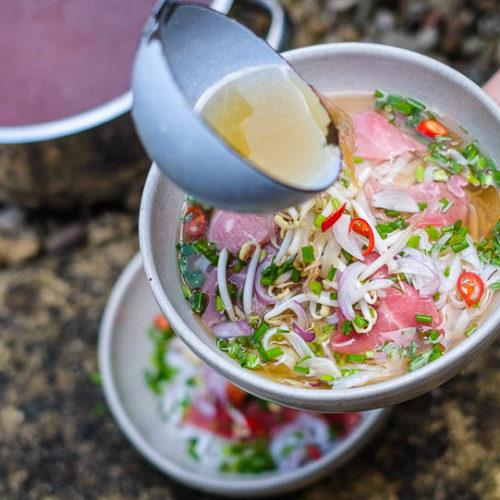 Vietnamský hovězí vývar Pho bo tai