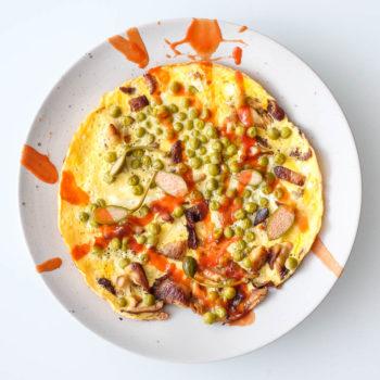 Rychlá omeleta shlívou akapary