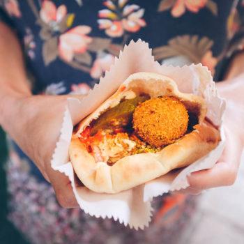 Jerusalém - nejpeší falafel sandwich