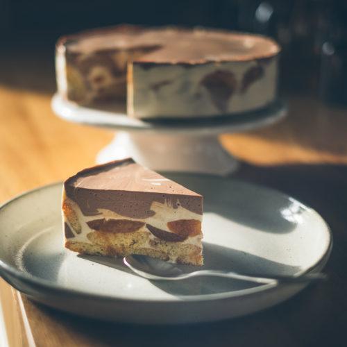 Tvarohový dort smeruňkami